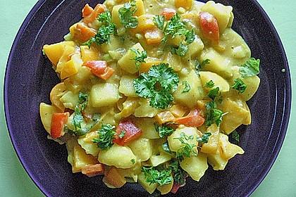 Kartoffel - Curry mit Pfirsich 6
