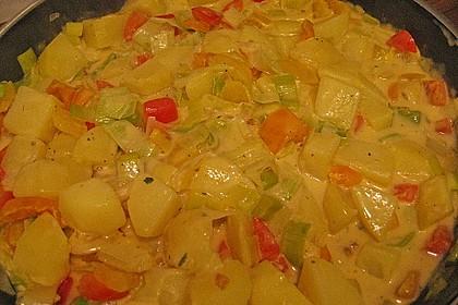 Kartoffel - Curry mit Pfirsich 34