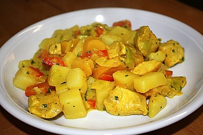 Kartoffel - Curry mit Pfirsich 18