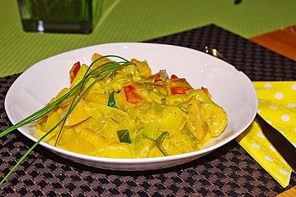 Kartoffel - Curry mit Pfirsich 8