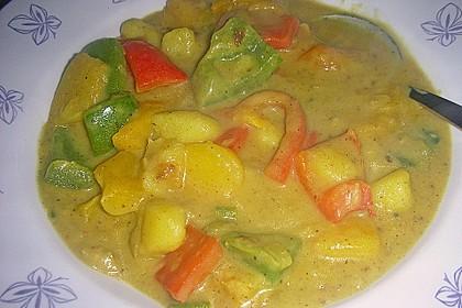 Kartoffel - Curry mit Pfirsich 29