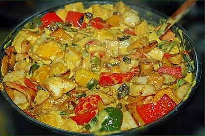 Kartoffel - Curry mit Pfirsich 4