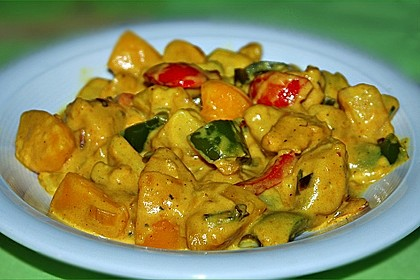 Kartoffel - Curry mit Pfirsich 2