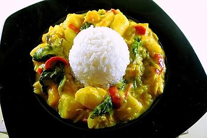 Kartoffel - Curry mit Pfirsich 1