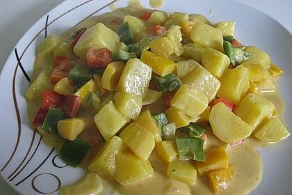 Kartoffel - Curry mit Pfirsich
