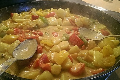 Kartoffel - Curry mit Pfirsich 22