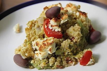 Brokkoli-Hirse mit Feta/Schafskäse 7