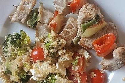 Brokkoli-Hirse mit Feta/Schafskäse 20