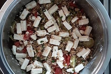 Brokkoli-Hirse mit Feta/Schafskäse (Bild)