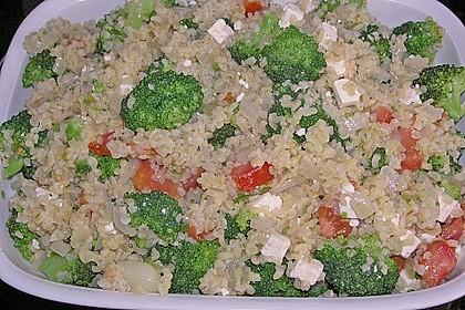 Brokkoli-Hirse mit Feta/Schafskäse 10