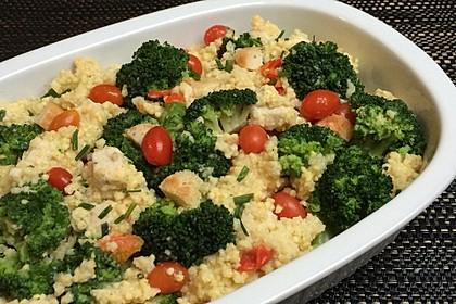 Brokkoli-Hirse mit Feta/Schafskäse 3