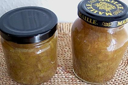 Rhabarber - Marmelade mit Ingwer 1