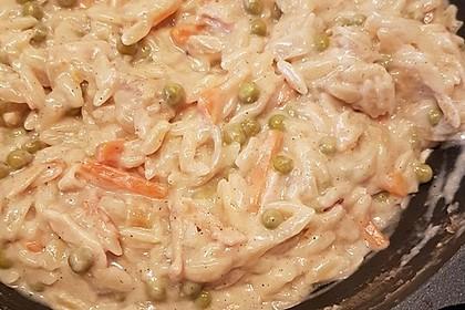 Bienemayas Spaghetti mit Erbsen, Schinken und Käse - Sahnesauce 8