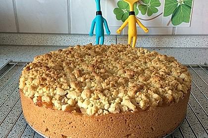 Gedeckter Apfelkuchen mit Streuseln (Bild)