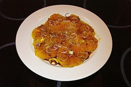 Orangen - Carpaccio mit roten Zwiebeln und schwarzem Pfeffer 4
