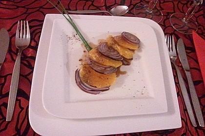 Orangen - Carpaccio mit roten Zwiebeln und schwarzem Pfeffer 8