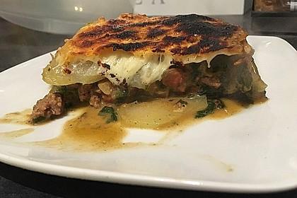 Kohlrabi-Spinat Lasagne mit Hackfleisch