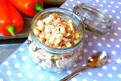 Kichererbsen-Salat mit leichter Mayonnaise 1