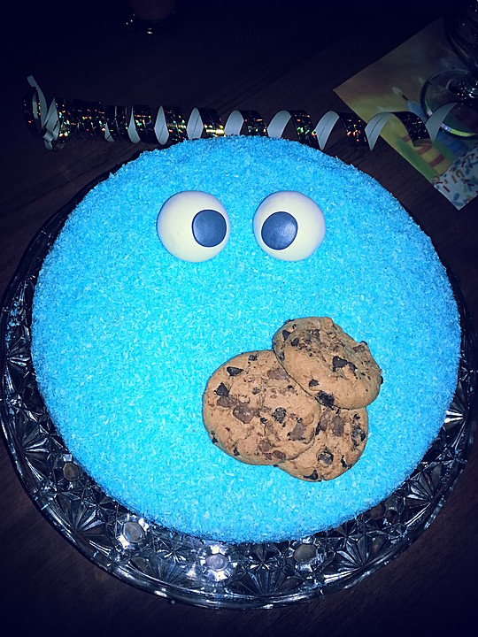 Grosse Blaue Krumelmonster Torte Von P N D Chefkoch De