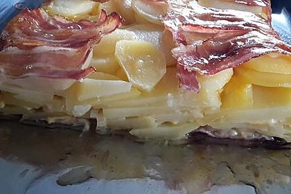 Bacon Tarte mit Kartoffel-Käse-Füllung 4