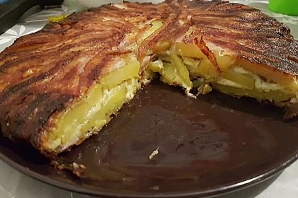 Bacon Tarte mit Kartoffel-Käse-Füllung 5