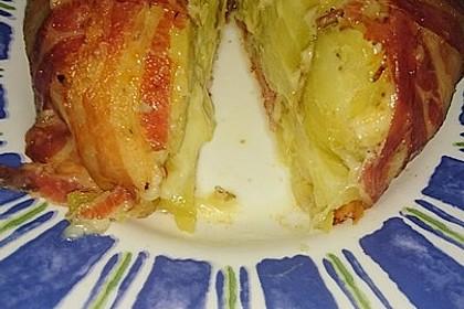 Bacon Tarte mit Kartoffel-Käse-Füllung 3