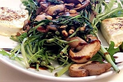 Gebratener Fetakäse mit Pilzen 1