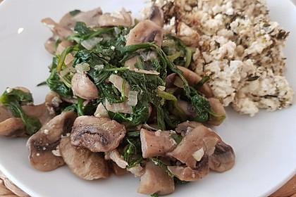 Gebratener Fetakäse mit Pilzen 4