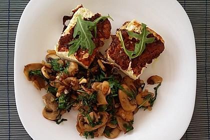 Gebratener Fetakäse mit Pilzen 2