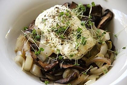 Gebratener Fetakäse mit Pilzen 3