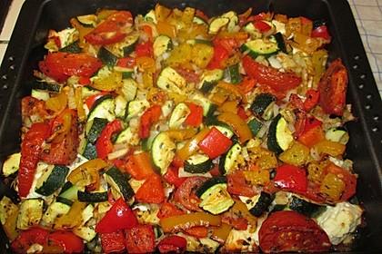 Ofengemüse mit Kräutern der Provence 7