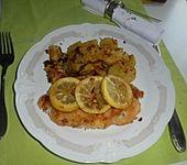 Fisch auf Zitrone gebraten (Bild)