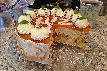 Mango-Stracciatella-Torte