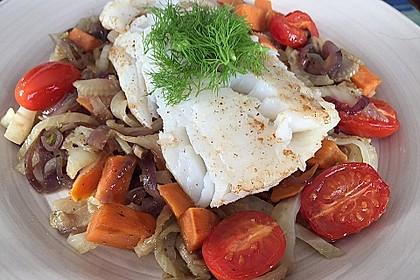 Kabeljau auf Fenchel-Süßkartoffelgemüse 3