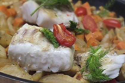 Kabeljau auf Fenchel-Süßkartoffelgemüse 2
