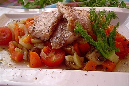 Kabeljau auf Fenchel-Süßkartoffelgemüse 1