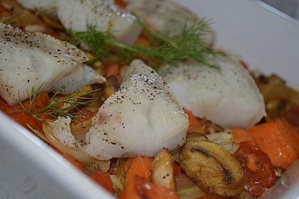 Kabeljau auf Fenchel-Süßkartoffelgemüse 4