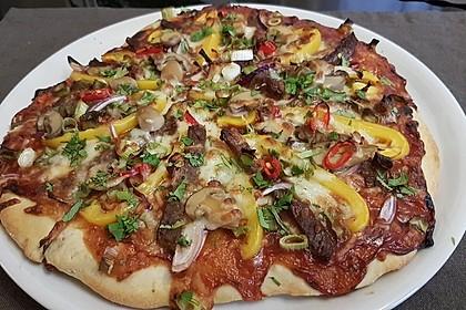 Asiatische Rindfleisch-Pizza 1