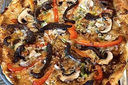 Asiatische Rindfleisch-Pizza 6