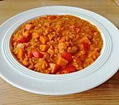 Rote Linsen-Curry mit Süßkartoffeln (Bild)