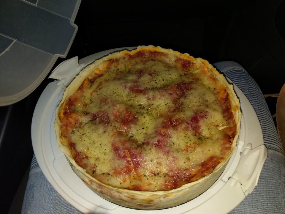 Herzhafter Pizza Kuchen Von Hannah Kocht Einfach Chefkoch De