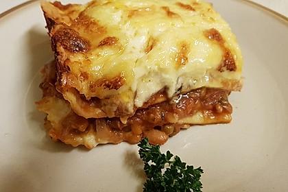 Rote Linsen-Lasagne