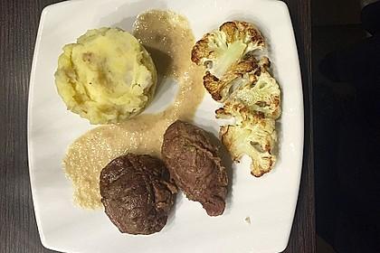 Duroc Schweinebäckchen mit Topinambur-Kartoffelstampf