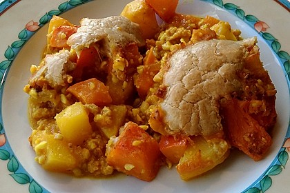 Kürbis-Kartoffelauflauf (Bild)