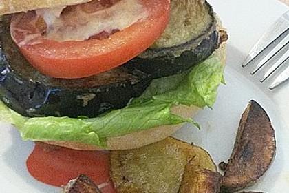 Vegetarischer Auberginen-Burger