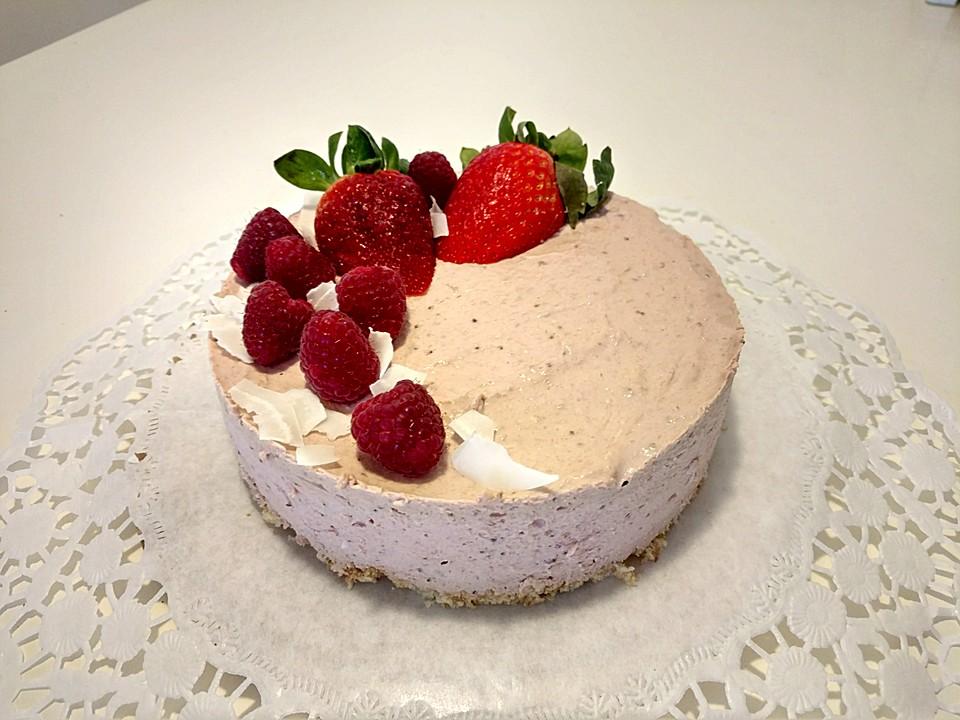 Cremige Erdbeer Joghurt Torte Ohne Zucker Von Zebra15 Chefkoch De
