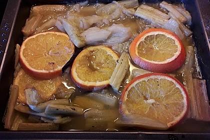 Gerösteter Rhabarber aus dem Ofen 2