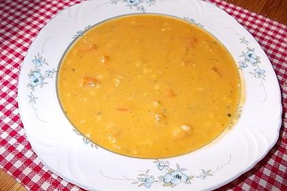 Karottensuppe mit Dinkeleinlage 1