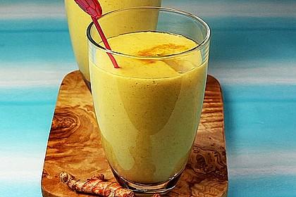 Gelber Smoothie Kurkuma-Mango 1