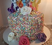 Regenbogentorte – Rainbow cake (Bild)